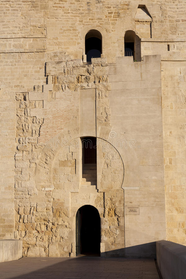 Detail of the Calahorra tower, Cordoba. Andalucia, Spain royalty free stock photos