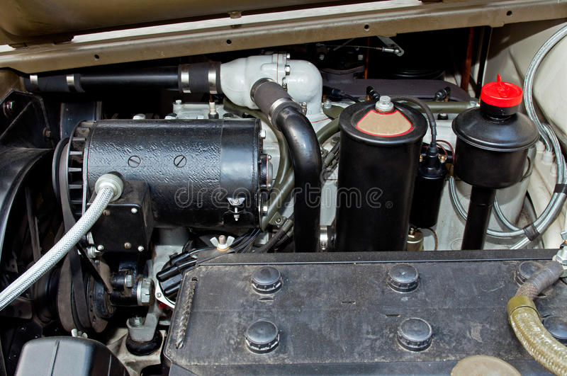 Detail of Car Engine stock image