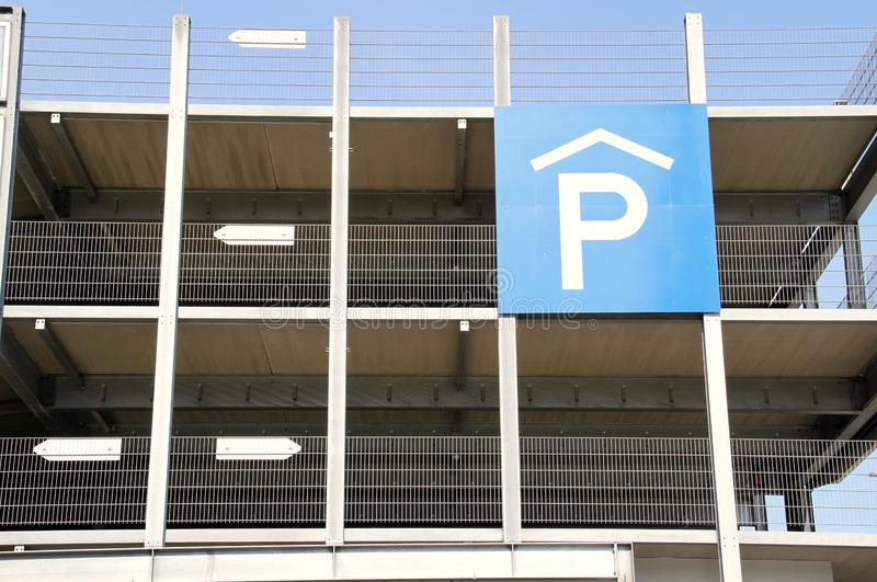 Detail car park royalty free stock image