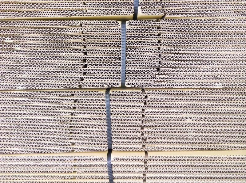 Detail of the cardboard stack. stock image