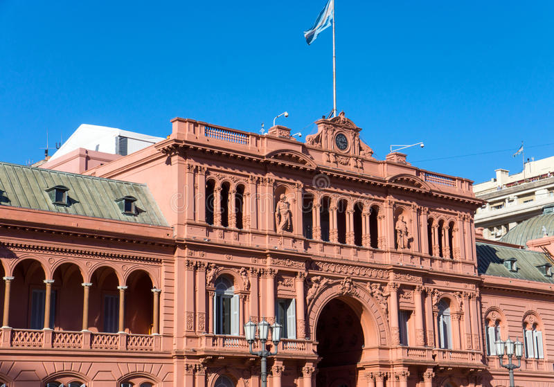 Detail of the Casa Rosada stock image