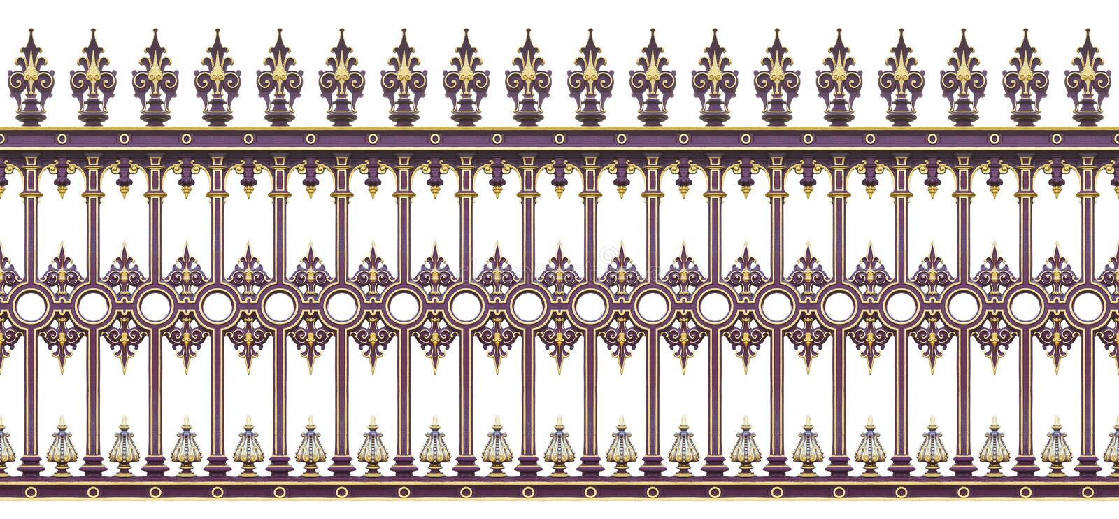 Detail of a cast iron gate in Wien Austria - Europe - It`s a s stock photo