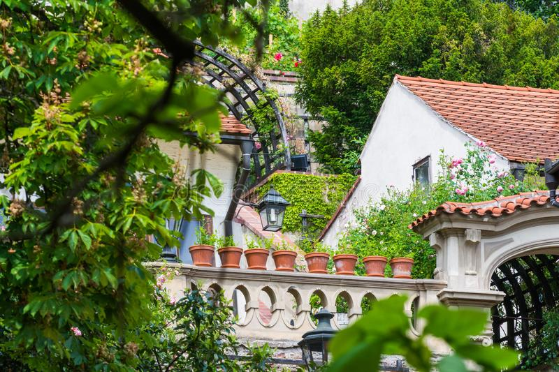 Detail in castle garden in Prague royalty free stock photo