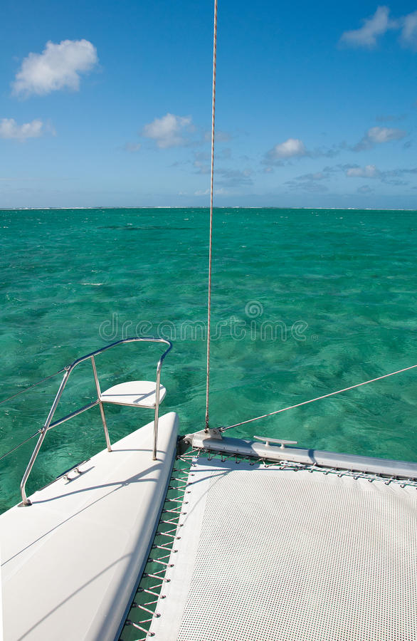 Download Detail Of Catamaran With Turquoise Water Background Stock Image - Image: 32066401