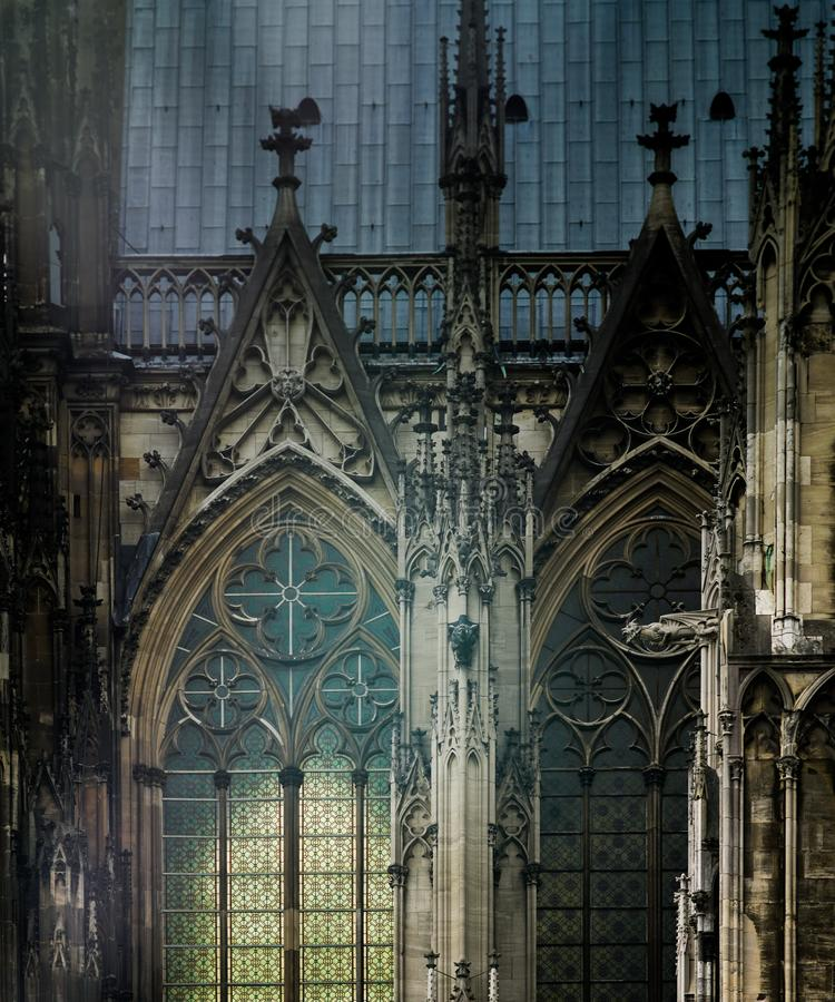 Detail of the Cathedral of Cologne stock photos