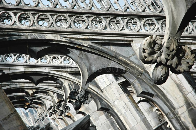 Detail cathedral Milan Italy stock photography