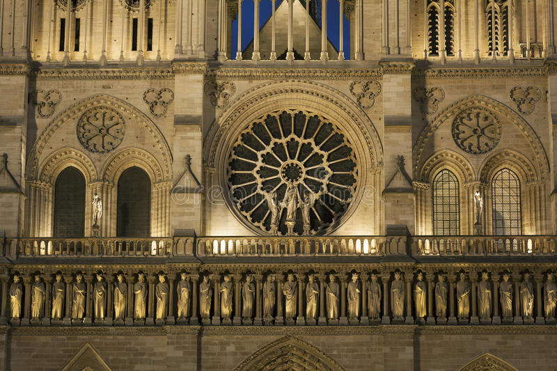 Detail in the Cathedral of Notre Dame, Paris royalty free stock photo