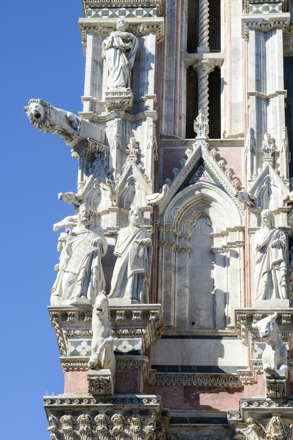 Detail of the cathedral at Siena royalty free stock photos
