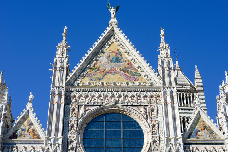 Detail of the cathedral at Siena stock images
