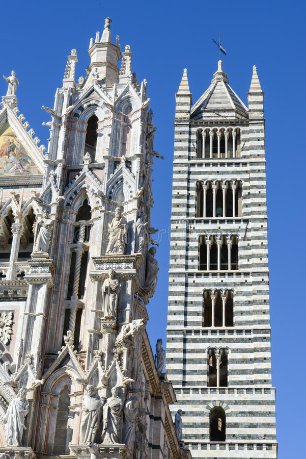 Detail of the cathedral at Siena stock photos