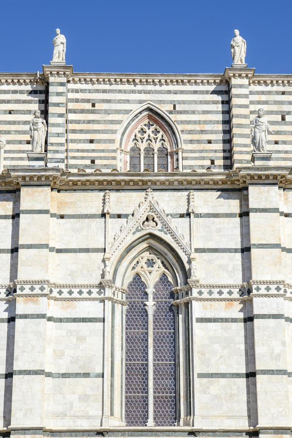 Detail of the cathedral at Siena royalty free stock photography