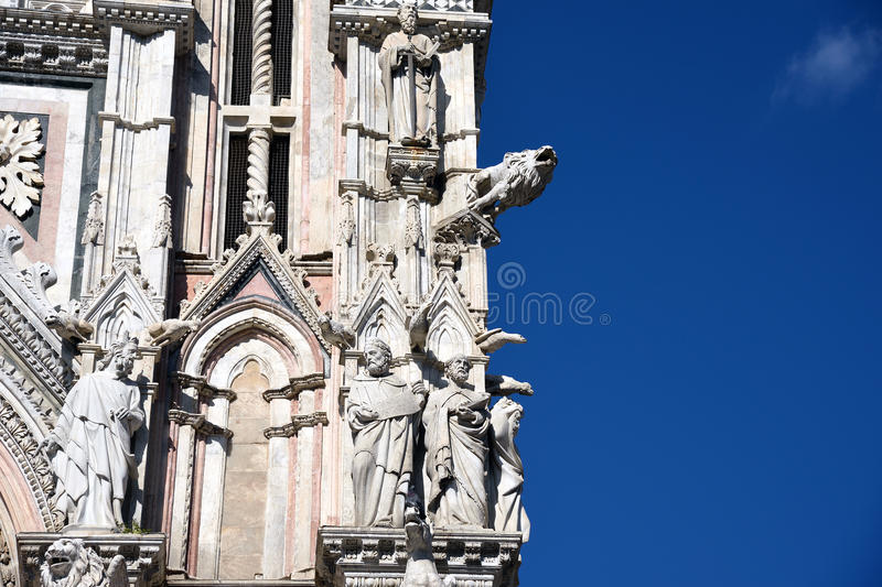 Detail of the cathedral in Siena, italy stock image