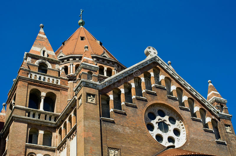 Detail of cathedral in Szeged, Hungary. Detail of the cathedral in Szeged, Hungary stock photos