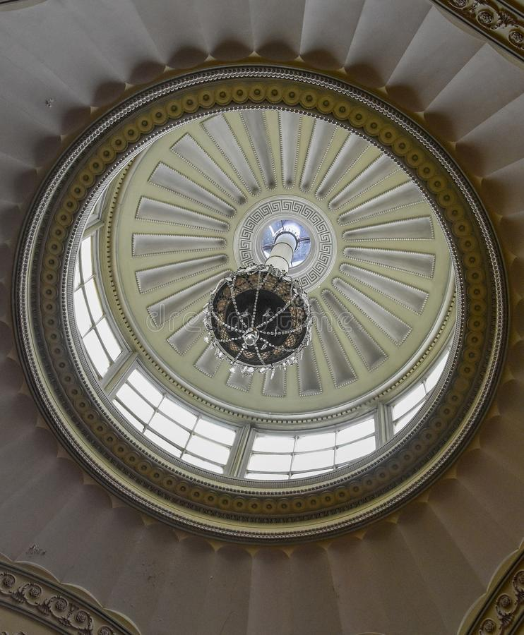 Wimpole Hall Ceiling Dome. Detail of the Ceiling Dome at Wimpole Hall Cambridgeshire England. The Hall was built in the 1600`s royalty free stock image