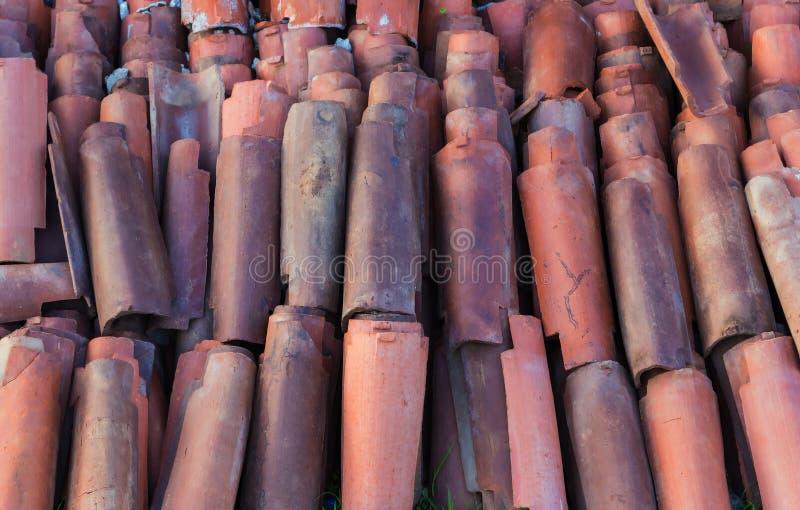 detail ceramic Arabic roof tiles stock images
