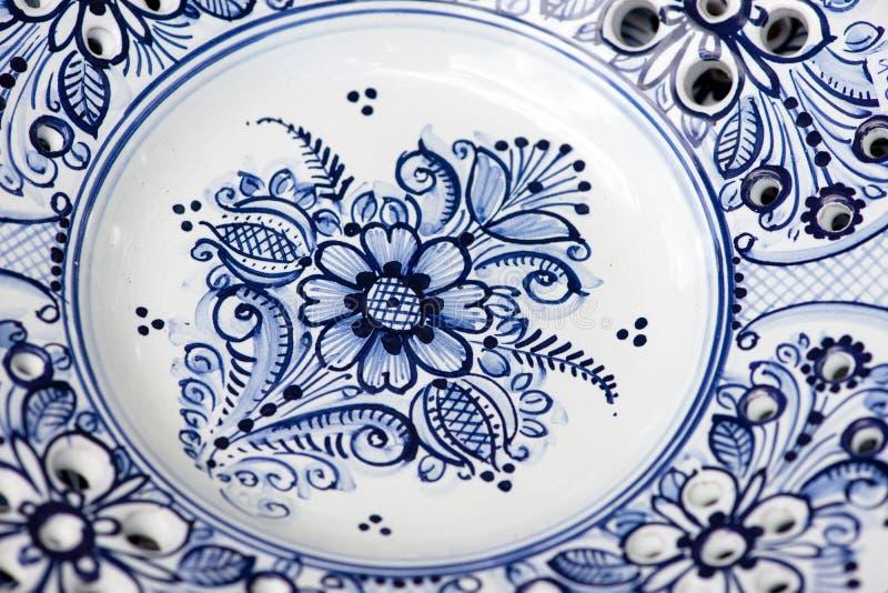 Detail of ceramics from Modra, Slovakia stock photo