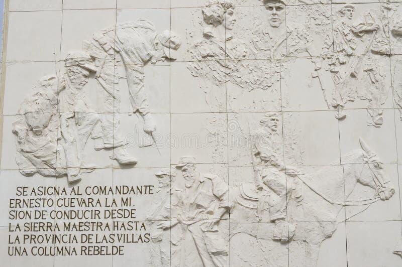 Detail of Che Guevara Monument. And Mausoleum in Santa Clara in Cuba stock photos