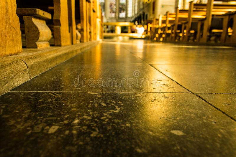 Detail of a church floor royalty free stock images