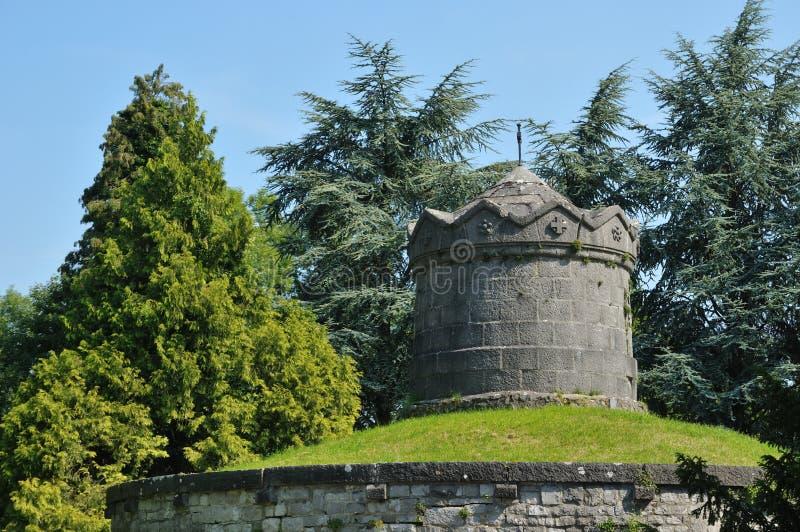 Detail of citadel in Dinant, Wallonie, Belgium. Memorial in citadel in dinant, province Namur, Wallonie, Belgium royalty free stock images