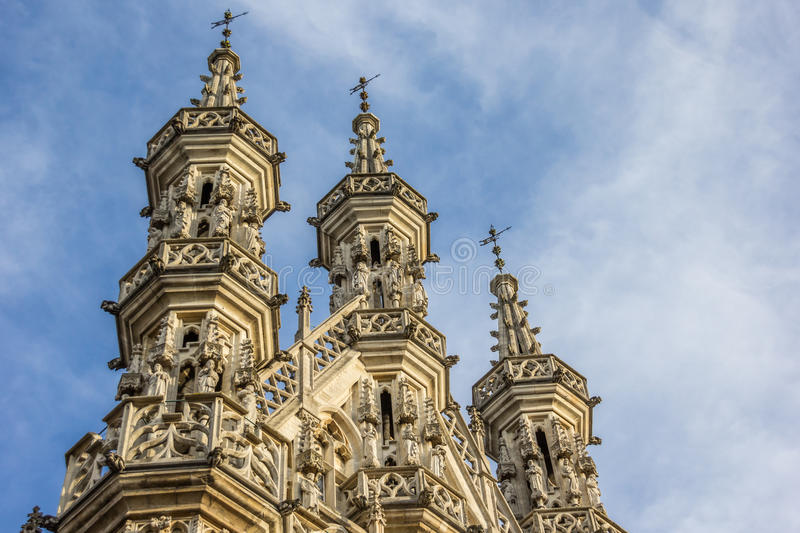 Detail of city hall in Leuven. Belgium royalty free stock images