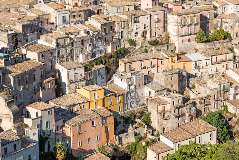 Detail of the city of Ragusa Ibla in Sicily stock images
