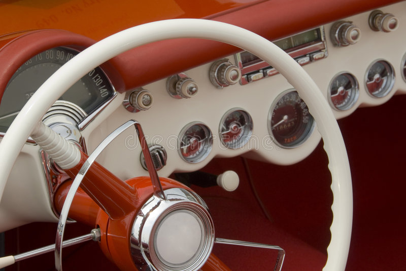 Detail of a classic car stock images
