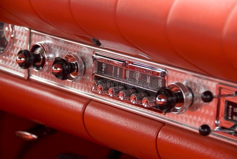 Detail of a classic car. Close up detail of a classic car at a car show stock photos