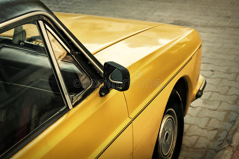 Detail of Classic car. Detail of middle eastern classic car stock image