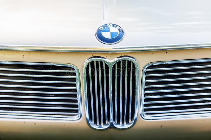 Detail of a classical BMW car royalty free stock image
