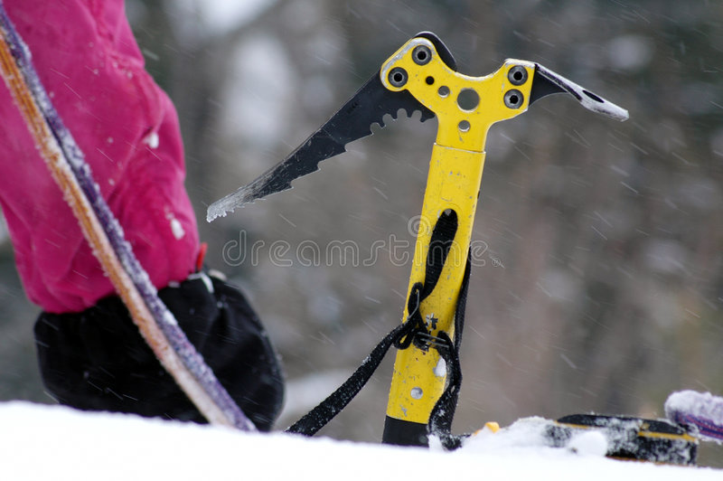 Detail of a climbing equipment royalty free stock photo