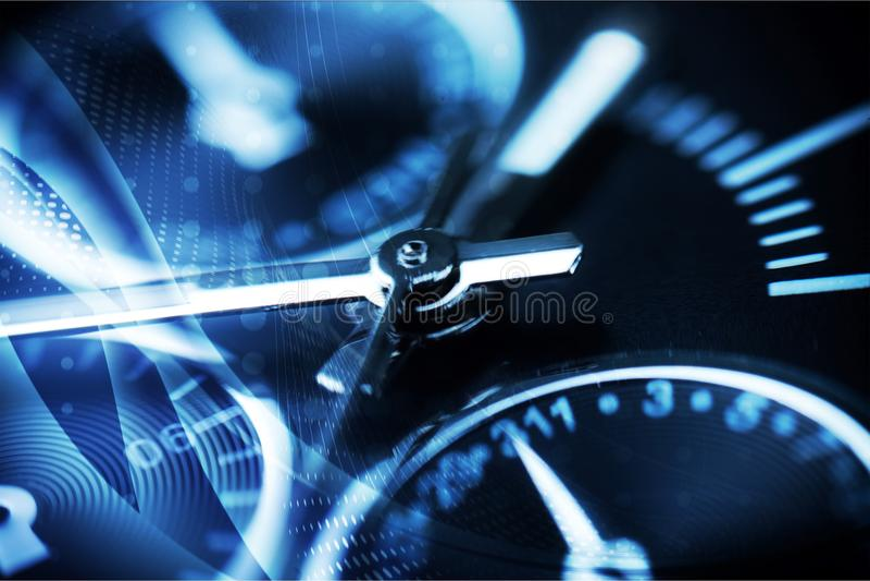Clock mechanism close-up view, Clockwork. Detail clock mechanism background close-up macro focus royalty free stock image
