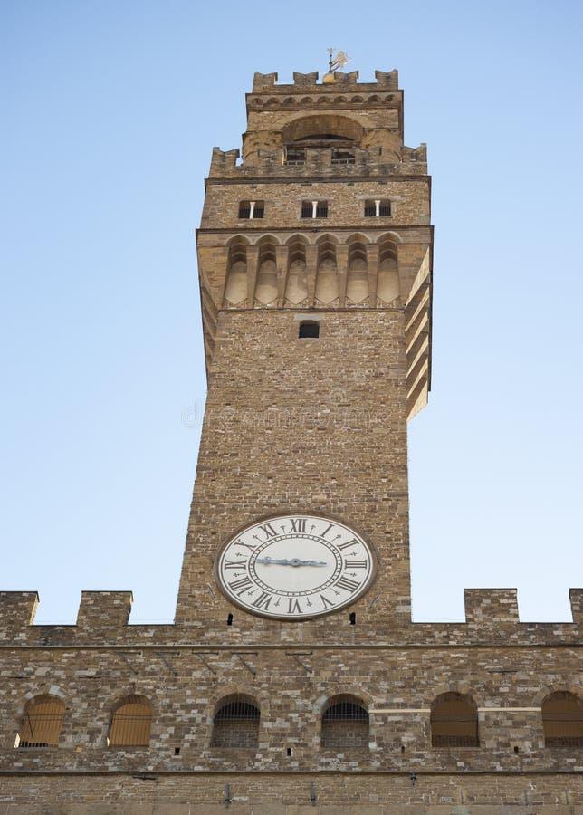 clock tower Palazzo Vecchio royalty free stock image