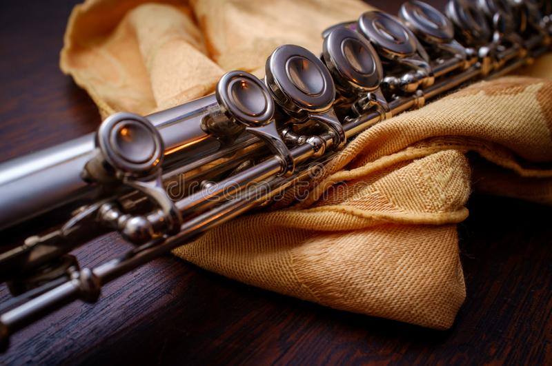 Detail Close up Flute stock photography