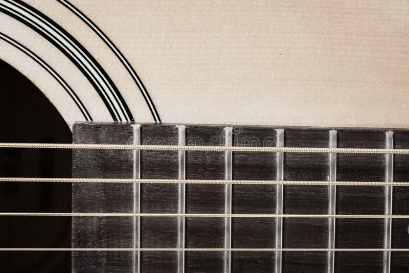 Detail closeup of classic guitar. Detail closeup of wooden a classic guitar royalty free stock photography