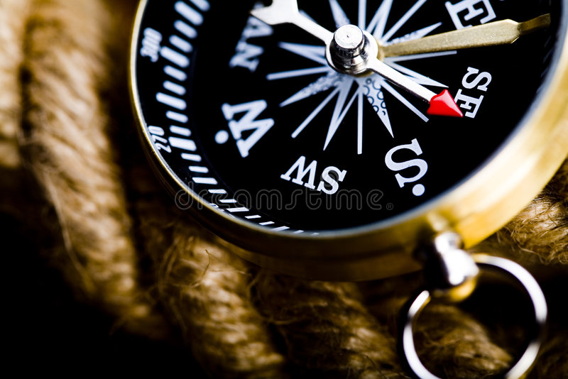 Detail closeup compass royalty free stock image