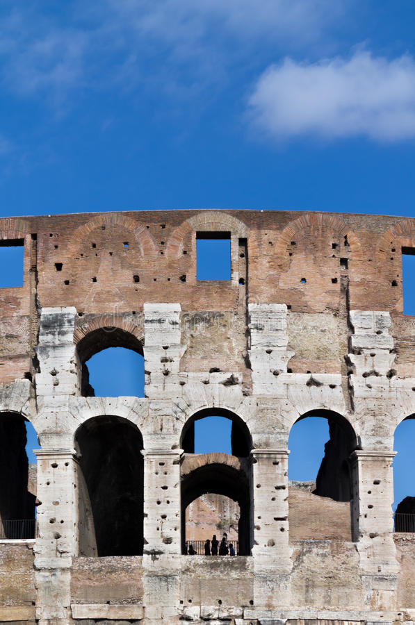 Detail of the Coliseum royalty free stock photography