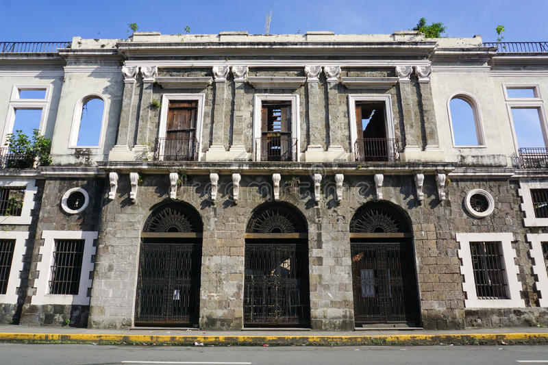 Detail Of Colonial Architecture In Manila Stock Image ...