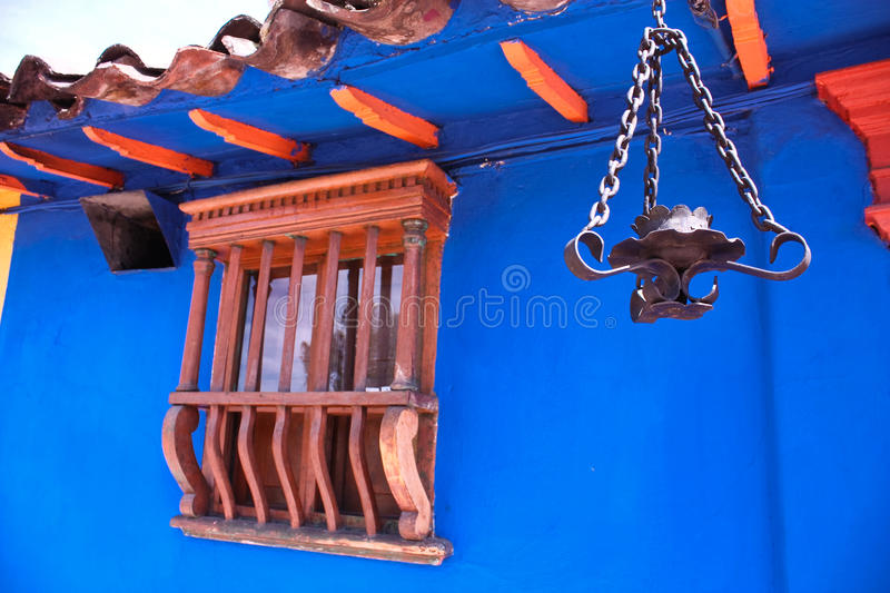 Detail of a colonial house royalty free stock photography