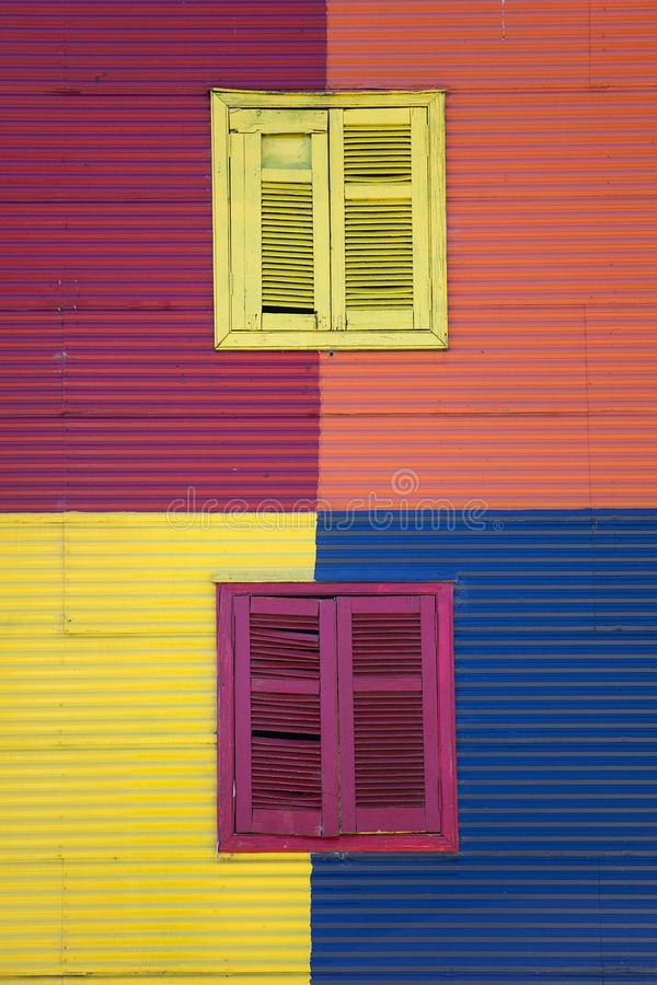 Colorful facade from Caminito in La Boca, Buenos Aires, Argentina stock image