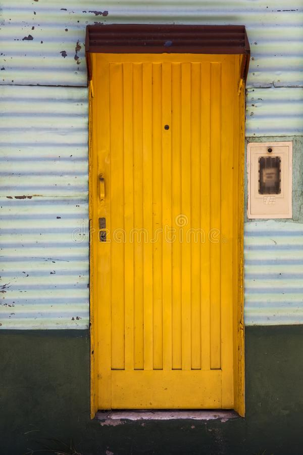 Colorful facade from Caminito in La Boca, Buenos Aires, Argentina. Detail from colorful facade from Caminito in La Boca, Buenos Aires, Argentina royalty free stock photos