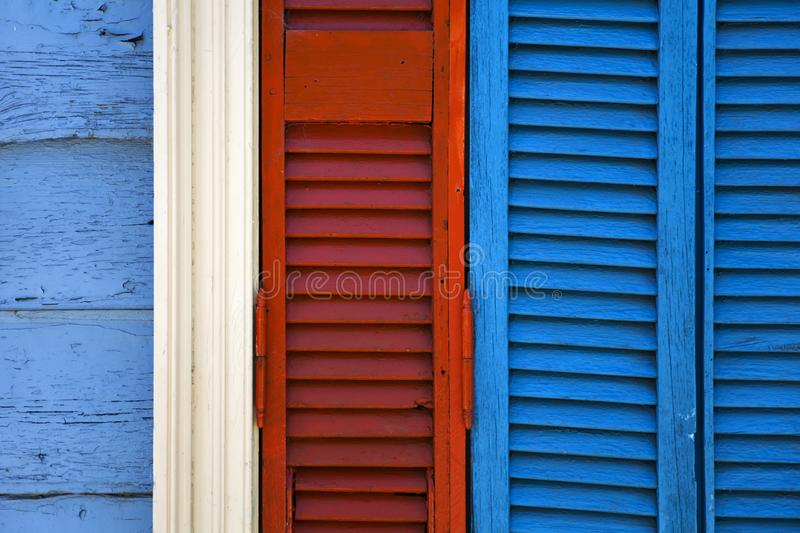 Colorful facade from Caminito in La Boca, Buenos Aires, Argentina. Detail from colorful facade from Caminito in La Boca, Buenos Aires, Argentina royalty free stock images