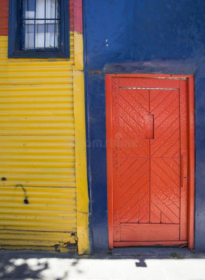 Colorful facade from Caminito in La Boca, Buenos Aires, Argentina. Detail from colorful facade from Caminito in La Boca, Buenos Aires, Argentina royalty free stock photo