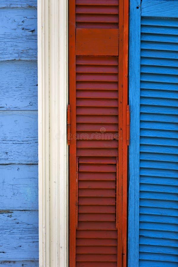 Colorful facade from Caminito in La Boca, Buenos Aires, Argentin. Detail from colorful facade from Caminito in La Boca, Buenos Aires, Argentina royalty free stock photo