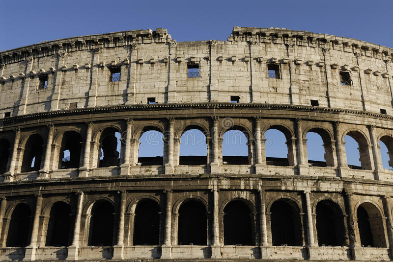 Detail of colosseum royalty free stock image