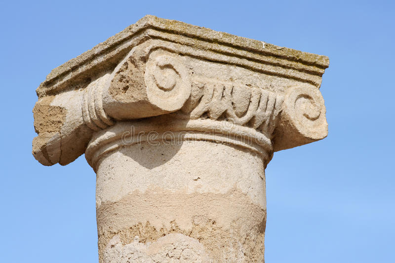 Column in Paphos royalty free stock images