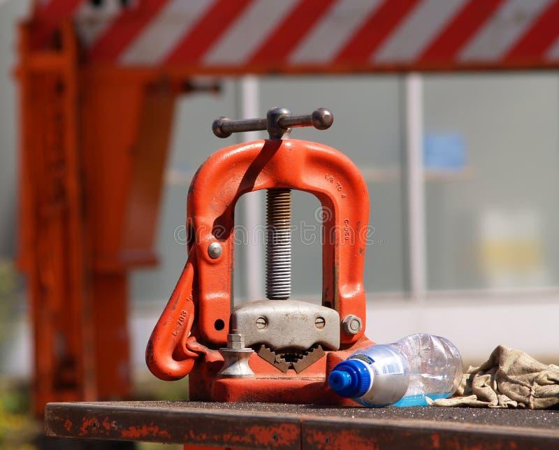 Detail of construction tool. stock photos
