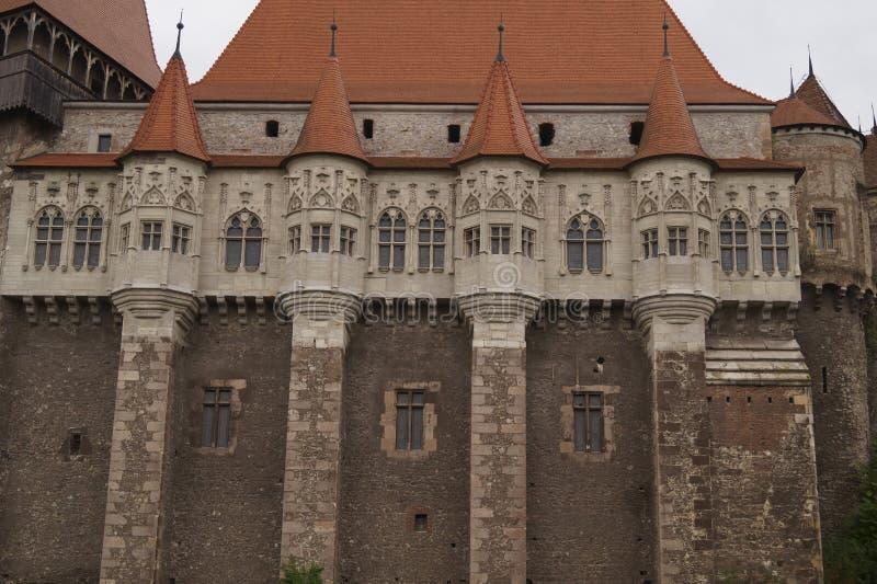 Detail - Corvin-Kasteel of Hunyadi-Kasteelsau Castelul Huniazilor, Hunedoara, Roemenië van Castelul Corvinilor royalty-vrije stock foto