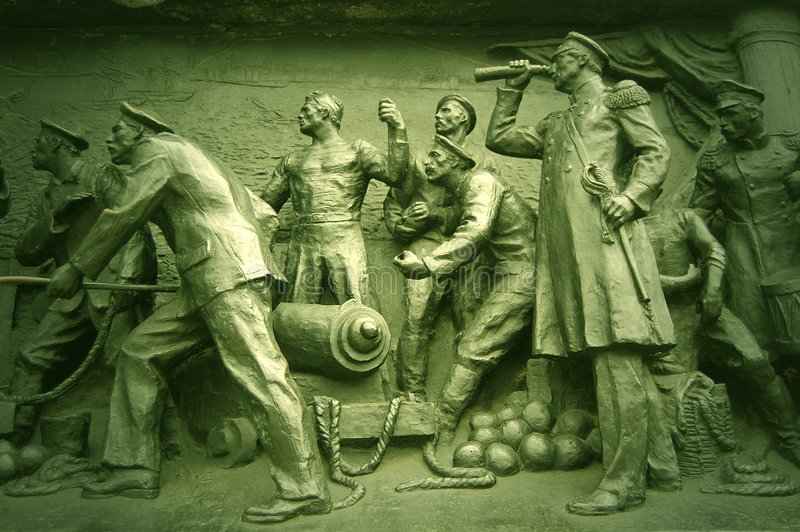 Detail Crimean War monument. Sebastopol royalty free stock photo