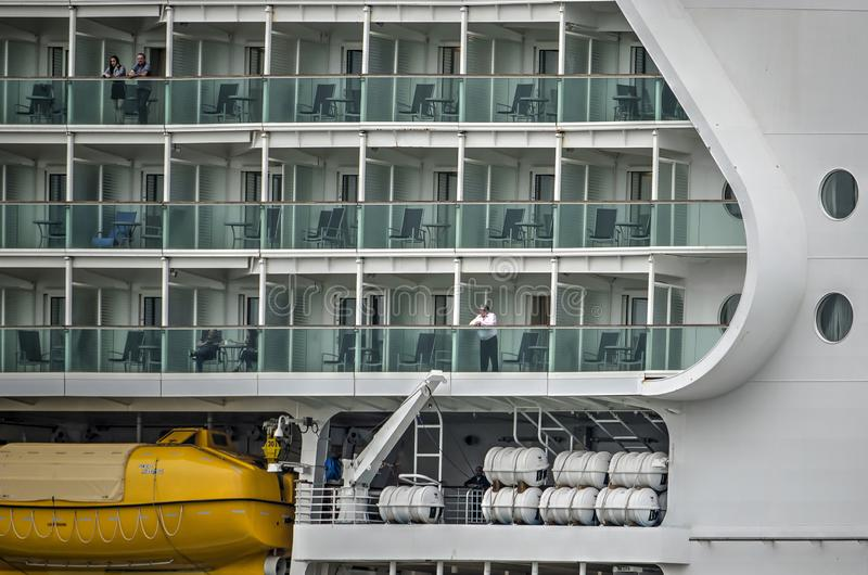 Detail of a cruise ship royalty free stock image