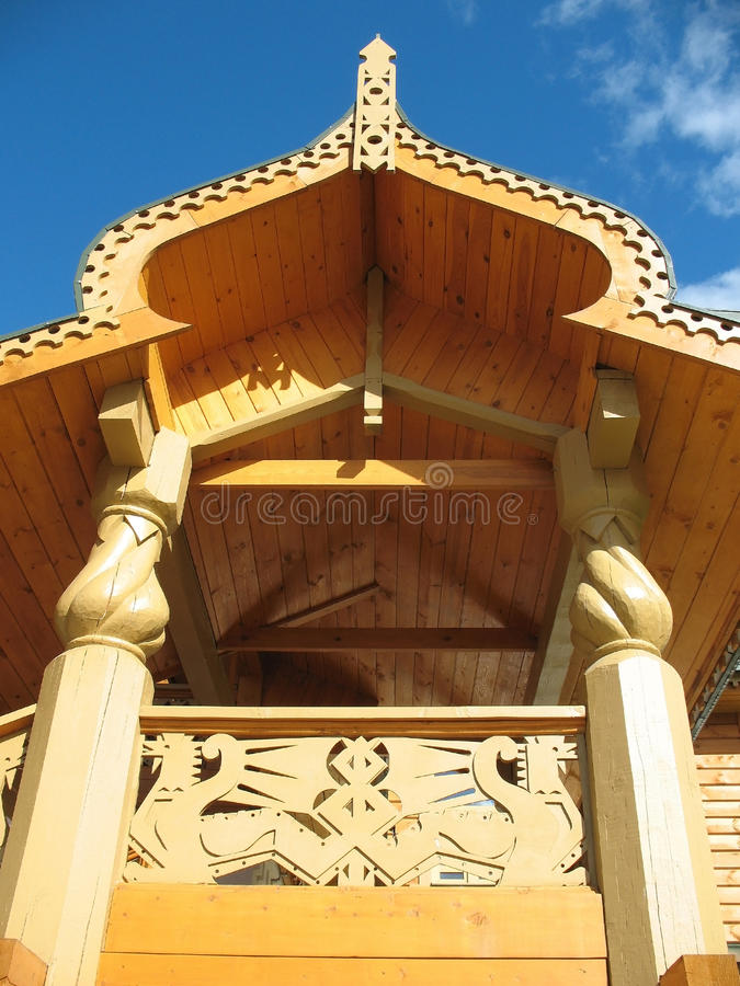 Download Detail Of The Decoration Of The Wooden Hou Stock Image - Image: 11398413